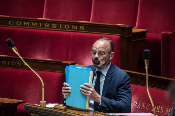 Le premier ministre, Edouard Philippe, à l'Assemblée, le 19 mai.