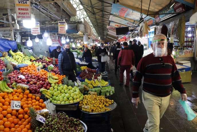 Le bazar couvert d'Ankara, le 17 avril.