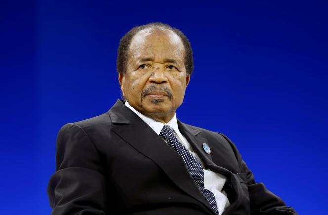 Le chef de l'Etat camerounais Paul Biya, à Paris, le 12 novembre 2019.