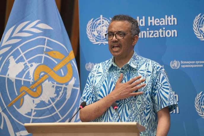 Tedros Adhanom Ghebreyesus, directeur général de l'Organisation mondiale de la santé, le 19 mai à Genève.