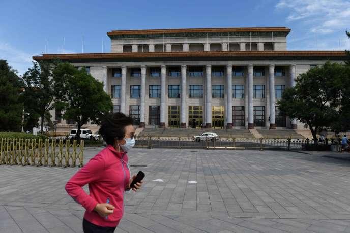 Le Palais du Peuple de Pékin, mercredi 20 mai, à la veille de la Conférence consultative politique du peuple chinois (CPPCC).