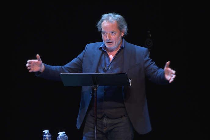 Christophe Alévêque, au Théâtre du Rond-Point, à Paris, le19 mai.