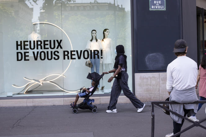 Rue de Rivoli, à Paris.