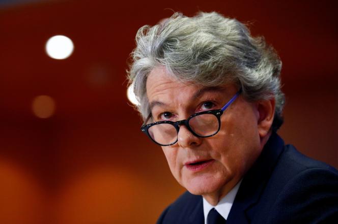 Le commissaire européen au marché intérieur, Thierry Breton, le 14 novembre 2019 à Bruxelles.