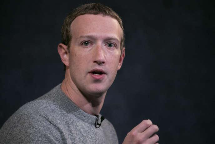 Mark Zuckerberg, le fondateur de Facebook, le 25 octobre 2019, à New York.