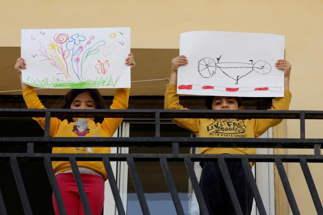 A Casablanca, le 16 avril 2020. Le Maroc a décidé de prolonger le confinement jusqu'au 10 juin pour lutter contre la propagation du coronavirus et les écoles resteront fermées.