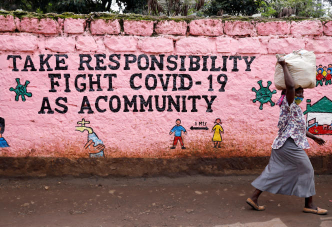Sur un mur de Nairobi, au Kenya, en mai 2020.