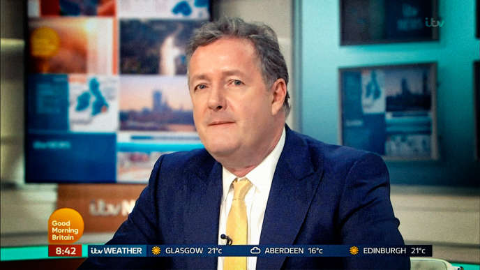 Le journaliste Piers Morgan, sur le plateau de son émission « Good Morning Britain », le 20 mai.