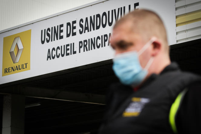 A l'usine Renault de Sandouville, près du Havre, le 22 mai.