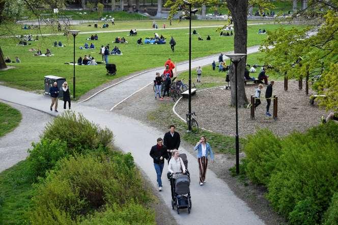 Le parc de Ralambshov, à Stockholm (Suède), le 8 mai.