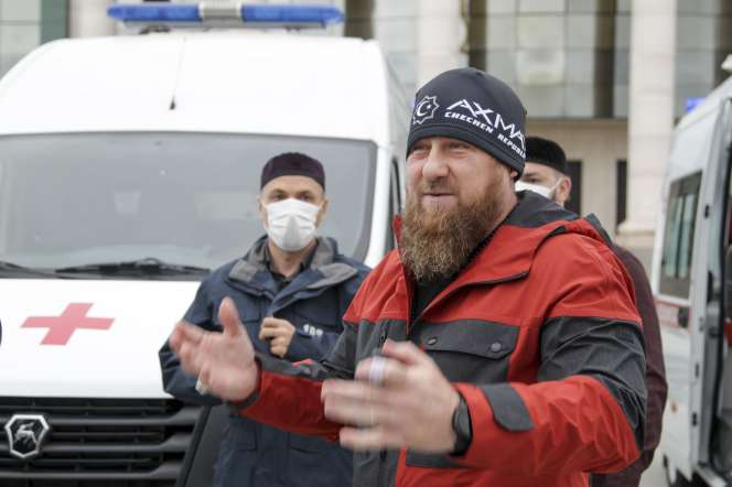 Le président tchétchène Ramzan Kadyrov, le 9 mai, à Grozny.