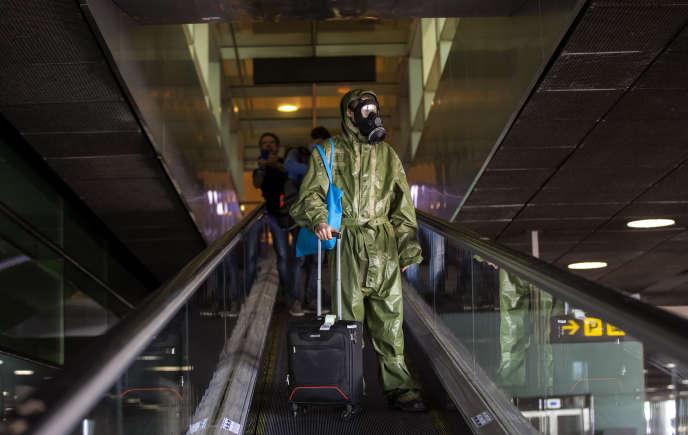 A l'aéroport de Barcelone, le 15 mai.