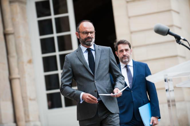 Edouard Philippe et Christophe Castaner, le 22 mai.
