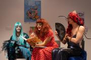 Séance de lecture de contes par le collectif Paillettes, à La Gaîté-Lyrique, à Paris.