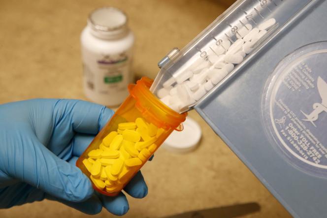 Des comprimés d'hydroxychloroquine fournis par une pharmacie à Provo, dans l'Utah (Etats-Unis), le 20 mai.