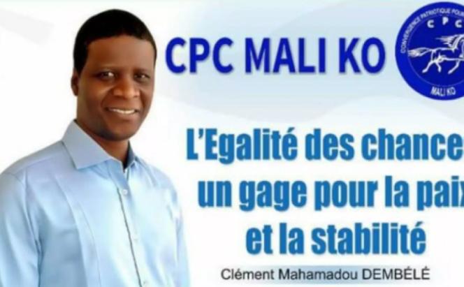 L'affiche de la campagne présidentielle de Clément Dembélé, en 2018.