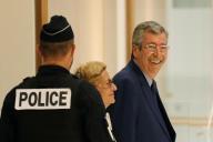 Patrick Balkany et sa femme, Isabelle Balkany, au tribunal de Paris, le 1erseptembre2019.