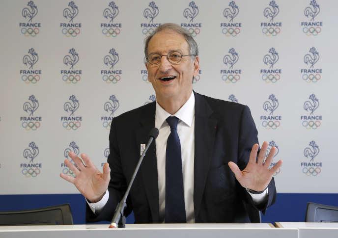 Denis Masseglia, président duComité national olympique et sportif français (CNOSF), lors d'une conférence de presseà Paris, en 2017.
