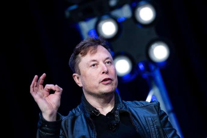 Elon Musk, fondateur de SpaceX, mais également de Tesla, lors de la conférence Satellite 2020 sur l'industrie spatiale, le 9 mars à Washington.