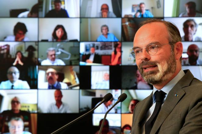 Edouard Philippe lors du lancement du «Ségur de la santé», au ministère de la santé à Paris, le 25 mai.