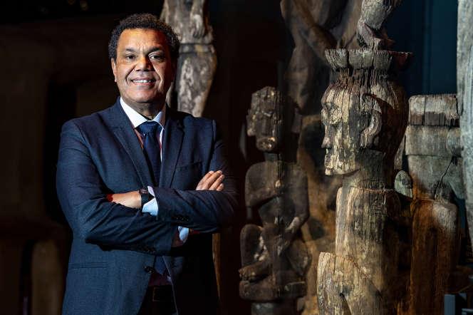 Emmanuel Kasarhérou au Musée du quai Branly, le 10 février.