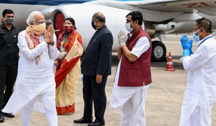 Le premier ministre indien, Narendra Modi, le 22 mai à Calcutta.
