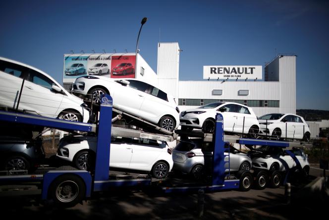 L'usine Renault de Flins (Yvelines), en mai 2020.