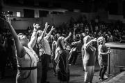 Lors du culte dans une église évangélique (Las Vegas, 2014).