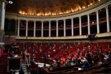 Pendant une séance de questions au gouvernement à l'Assemblée nationale à Paris, le 26 mai.