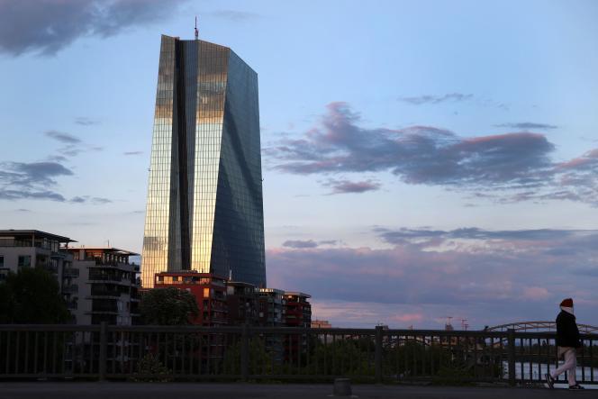 Le siège de la Banque centrale européenne, à Francfort (Allemagne), le 29 avril.