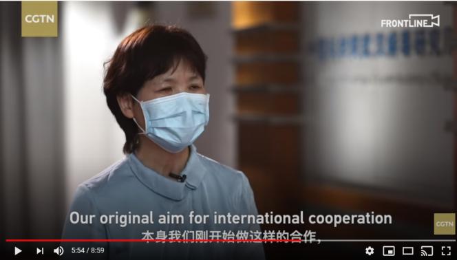 La virologue Shi Zhengli, à la télévision China Global Television Network, le 25mai.