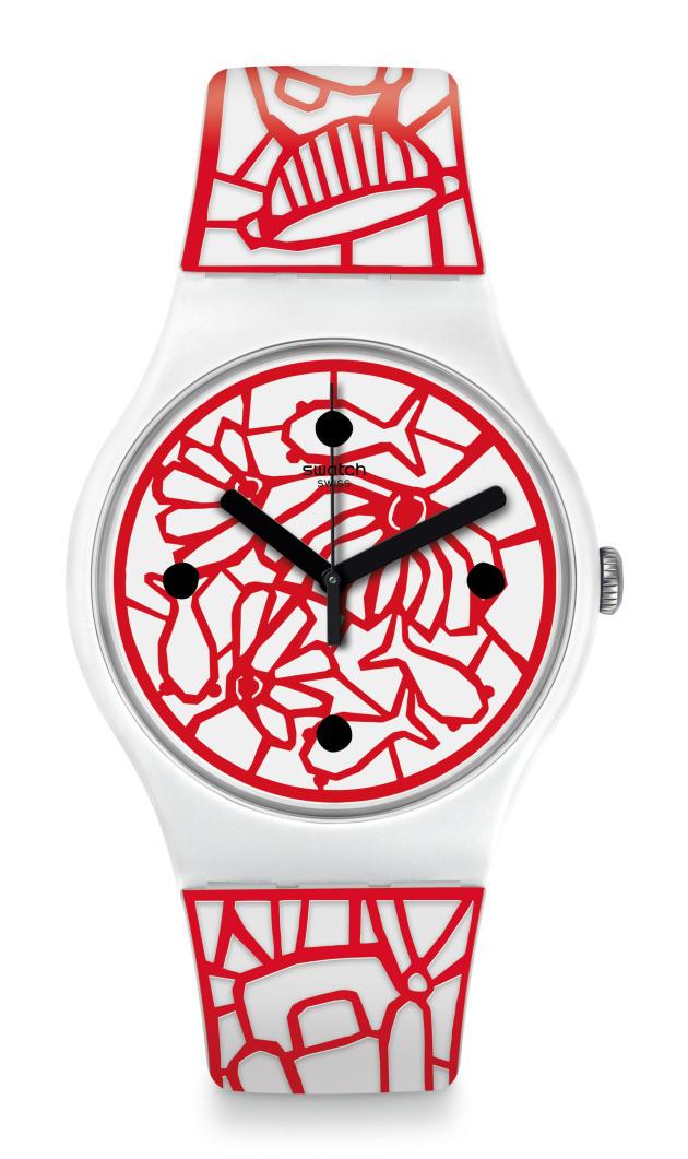 La montre de Paola Novone pour Swatch (2018).