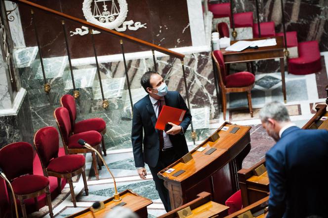 Le secrétaire d'Etat au numérique, Cédric O, a longuement défendu« son» projet d'application devant les députés, à Paris, le 27 mai.