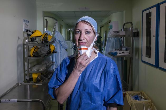 L'anesthésiste Annalisa Malara a pris en charge,à Codogno (Lombardie)le premier patient testé positif au Covid-19 d'Italie, le 21 février.