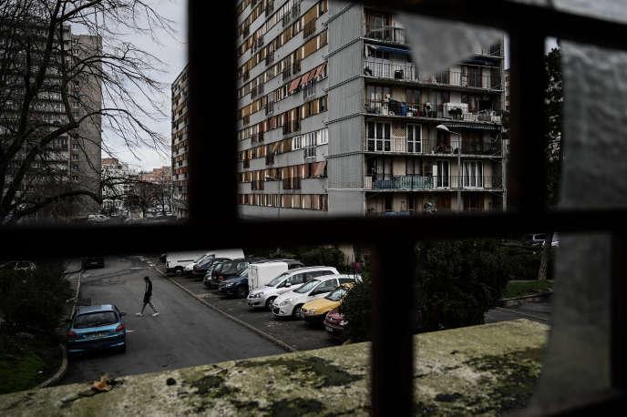 Un complexe de logements sociaux, àClichy-sous-Bois (Seine-Saint-Denis), en février.
