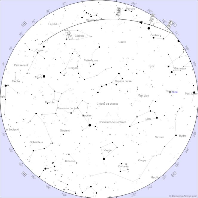 La trajectoire du Crew Dragon dans le ciel de Marseille le 27 mai.