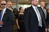 La directrice financière de Huawei, Meng Wanzhou, quitte la Cour suprême de Colombie-Britannique, à Vancouver, le 27 mai.