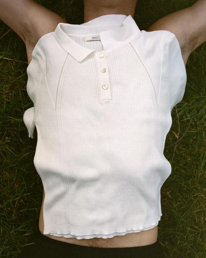 Polo en coton biologique blanc, Sessún, 125€.