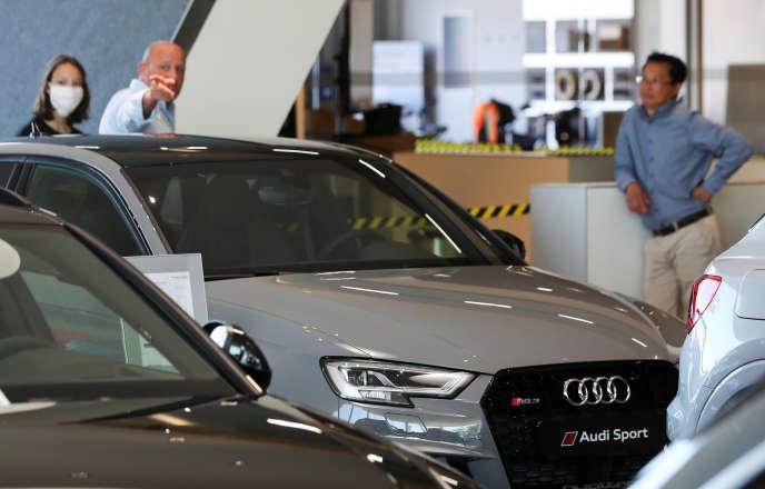 Dans une concession de la marque Audi à Bruxelles, le 28 mai 2020.