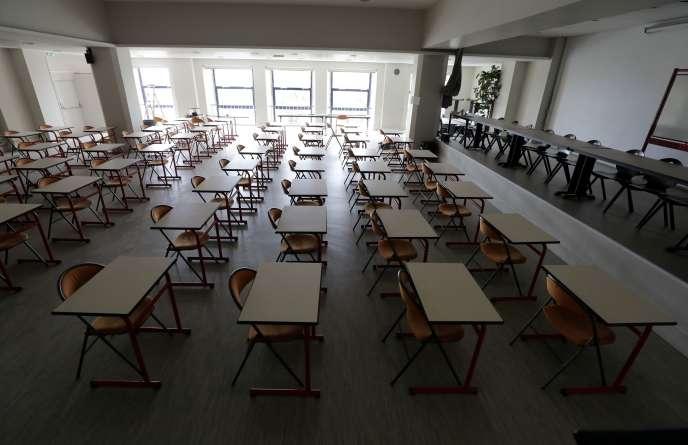 Une salle de conférence du lycée