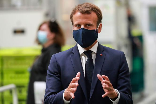 Emmanuel Macron, à Etaples (Pas-de-Calais), le 26 mai 2020.