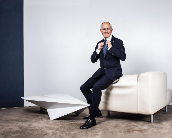 Le PDG de La Poste, Philippe Wahl, àParis, en octobre 2019.