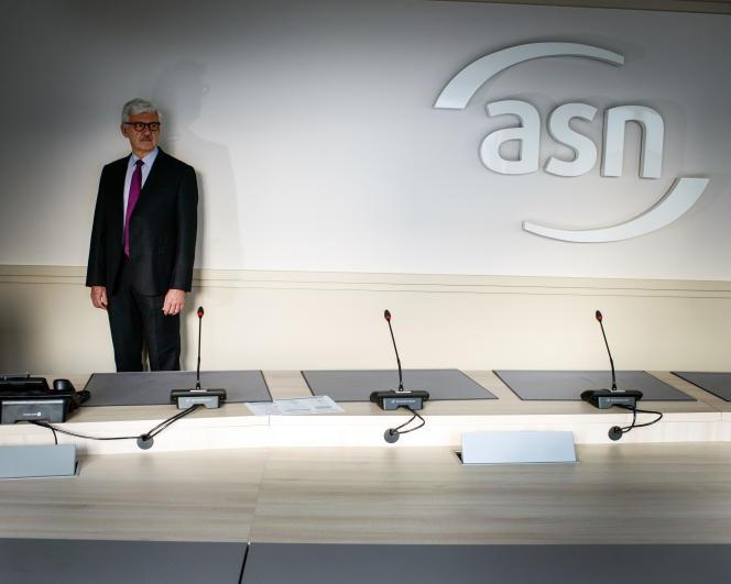 Bernard Doroszczuk, le président de l'Autorité de la sûreté nucléaire, dans les locaux de l'ASN à Montrouge, en janvier 2019.