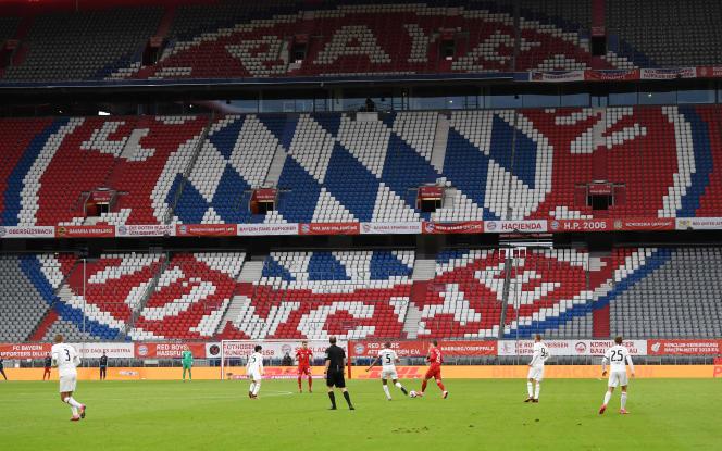 Lors du match à huis clos du Bayern Munich contre l'Eintracht Francfort, le 23mai2020.