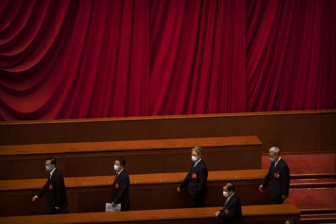 Des députés de l'Assemblée nationale populaire, à Pékin, le 28 mai.