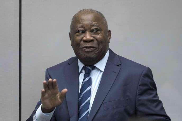 Laurent Gbagbo à la Cour pénale internationale de La Haye, le 15 janvier 2019.