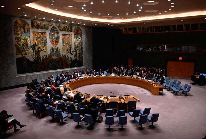 Une réunion du Conseil de sécurité de l'ONU en août 2019 à New York.