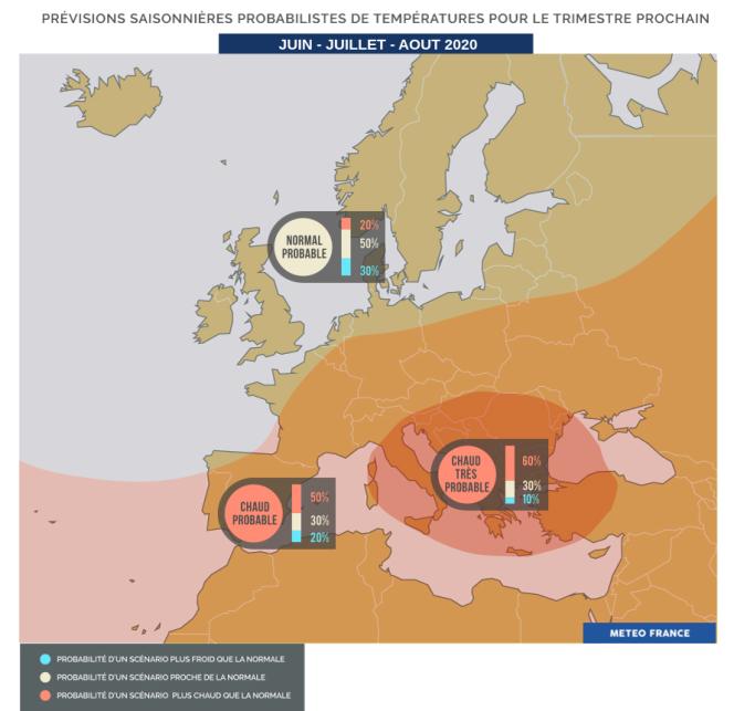Météo-France s'attend à de très fortes chaleurs dans le sud de l'Europe.