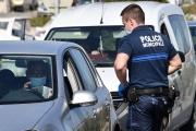 Contrôle policier, à Sète (Hérault), le 11 avril 2020.