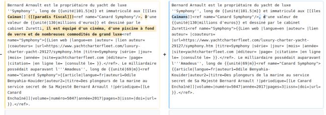 Exemple d'une suppression de contenu soupçonnée par Wikipédia de provenir d'une contribution rémunérée opaque.